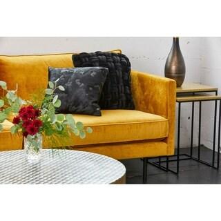 Aurelle Home Glam Velvet Cable Knit Toss Pillow