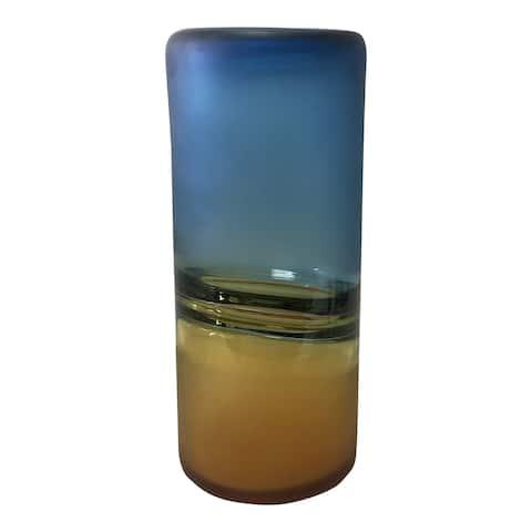 Aurelle Home Blue to Amber Contemporary Vase