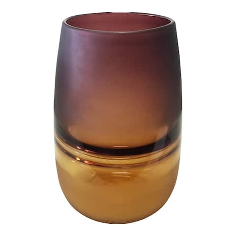 Aurelle Home Purple to Amber Contemporary Vase