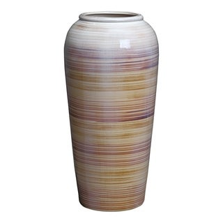 Aurelle Home Multi Small Transitional Glass Vase