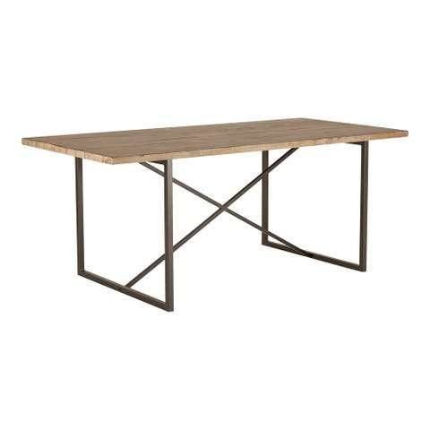 Aurelle Home Reclaimed Pine Transitional Dining Table