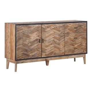 Aurelle Home Oxeford Rustic Pine Sideboard