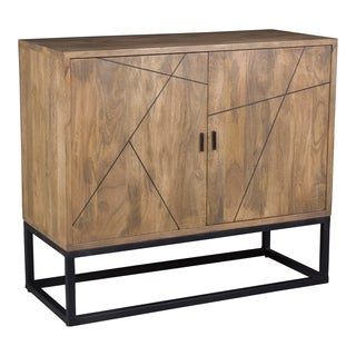 Aurelle Home Matt Lacquer and Oil-based Stain Small Sideboard