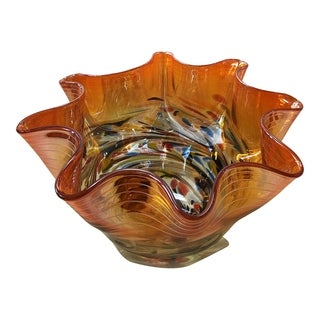 Aurelle Home Orange Mid-Century Modern Retro Bowl
