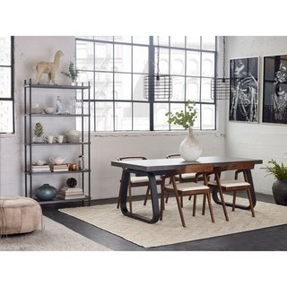 Link to Aurelle Home Lava Stone Modern Dining Table - Black Similar Items in Dining Room & Bar Furniture