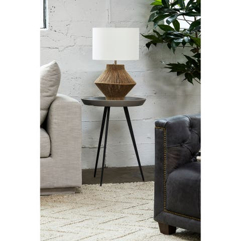 Aurelle Home Natural Jute Base Retro Table Lamp