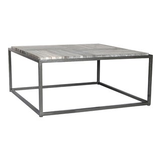 Aurelle Home Grey Marble Contemporary Coffee Table