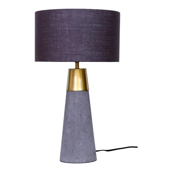 Aurelle Home Light Grey Concrete Contemporary Table Lamp. Opens flyout.