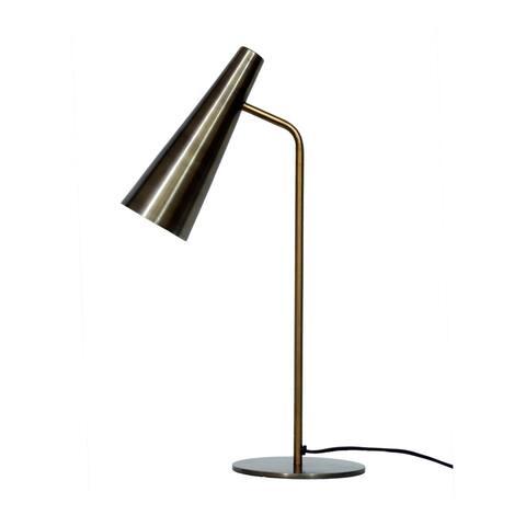 Aurelle Home Brass Industrial Trumpet Table Lamp
