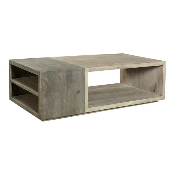 Aurelle Home Contemporary Acacia Wood Storage Coffee Table