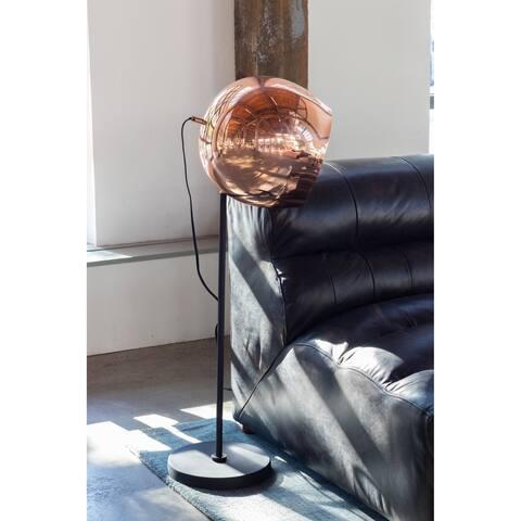 Aurelle Home Retro Copper Industrial Floor Reading Lamp