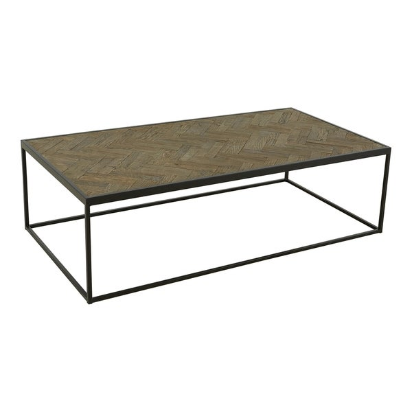 Aurelle Home Minimalistic Rustic and Industrial Coffee Table