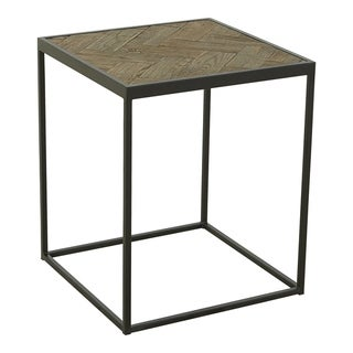 Aurelle Home Minimalistic Rustic and Industrial Side Table