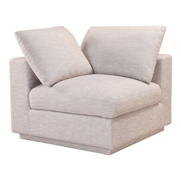 """Aurelle Home Jimmie Soft Linen Modular Corner Chair - 34.25"""" x 38.25"""" x 37.75"""""""
