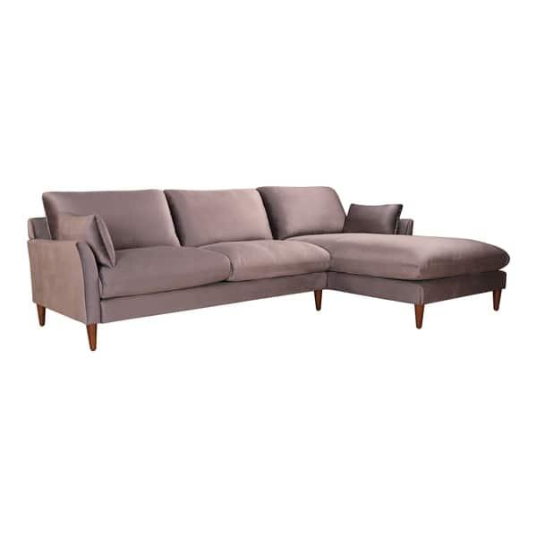 Velvet Deep Cushion Sectional Sofa