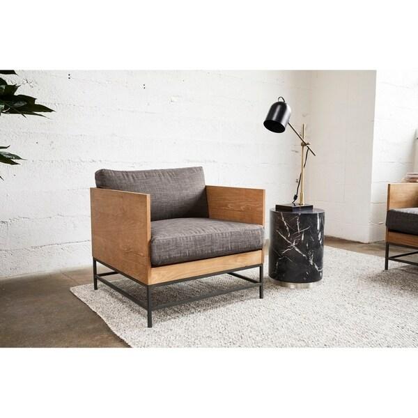 "Aurelle Home Gina Industrial Modern Arm Chair - 25"" x 29.5"" x 29.5"". Opens flyout."