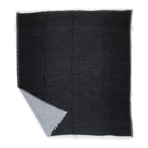 Aurelle Home Black Soft and Durable Throw Blanket