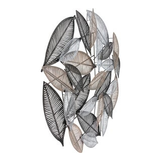 Aurelle Home Glam Transitional Leaves Wall Decor