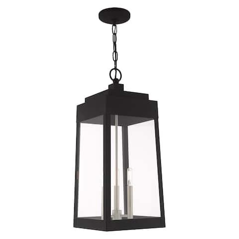 "Livex Lighting Oslo 3-Light Outdoor Pendant Lantern - 10.5""Sq. x 24.5""H"