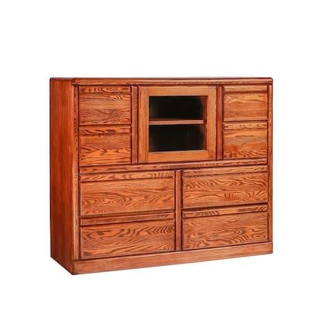 Bullnose Dresser w/ Beveled Glass Door 48W X 41H X 18D