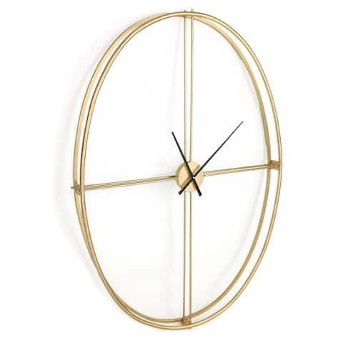 Nouvel Oversized Metal Wall Clock - 37 x 50
