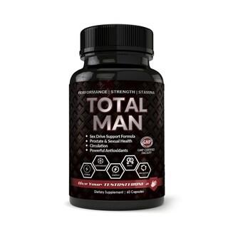 Total Man 1600mg with Maca Root Powder Tribulus & Tongkat All-Natural aphrodisiac (60 Capsules)