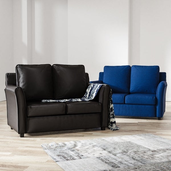 Burton Leather Sofa: Shop Furniture Of America Burton Contemporary Loveseat