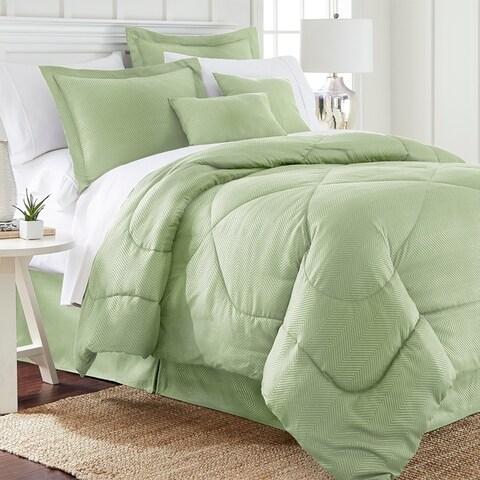 Spirit Linen Home Embossed Chevron Comforter Set (6 Piece)