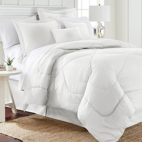 Spirit Linen Home Embossed Chevron Comforter Set (6 Piece)