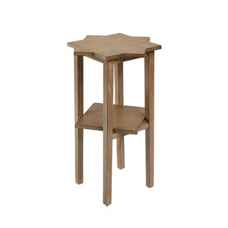 Zoey Starburst Wood Finish 1-shelf Accent Table