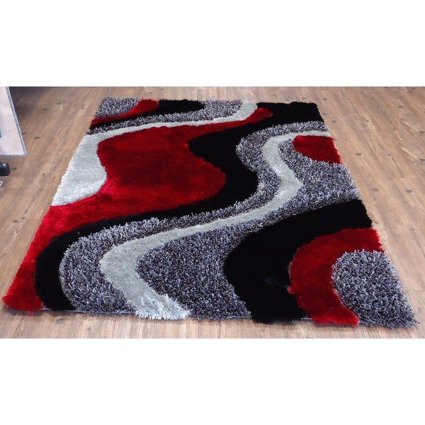 Shop 5x7 Contemporary Area Rug Black 5 X 7 Free Shipping Today