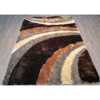 Dark Brown 5x7 Contemporary Area Rug - 5' x 7'