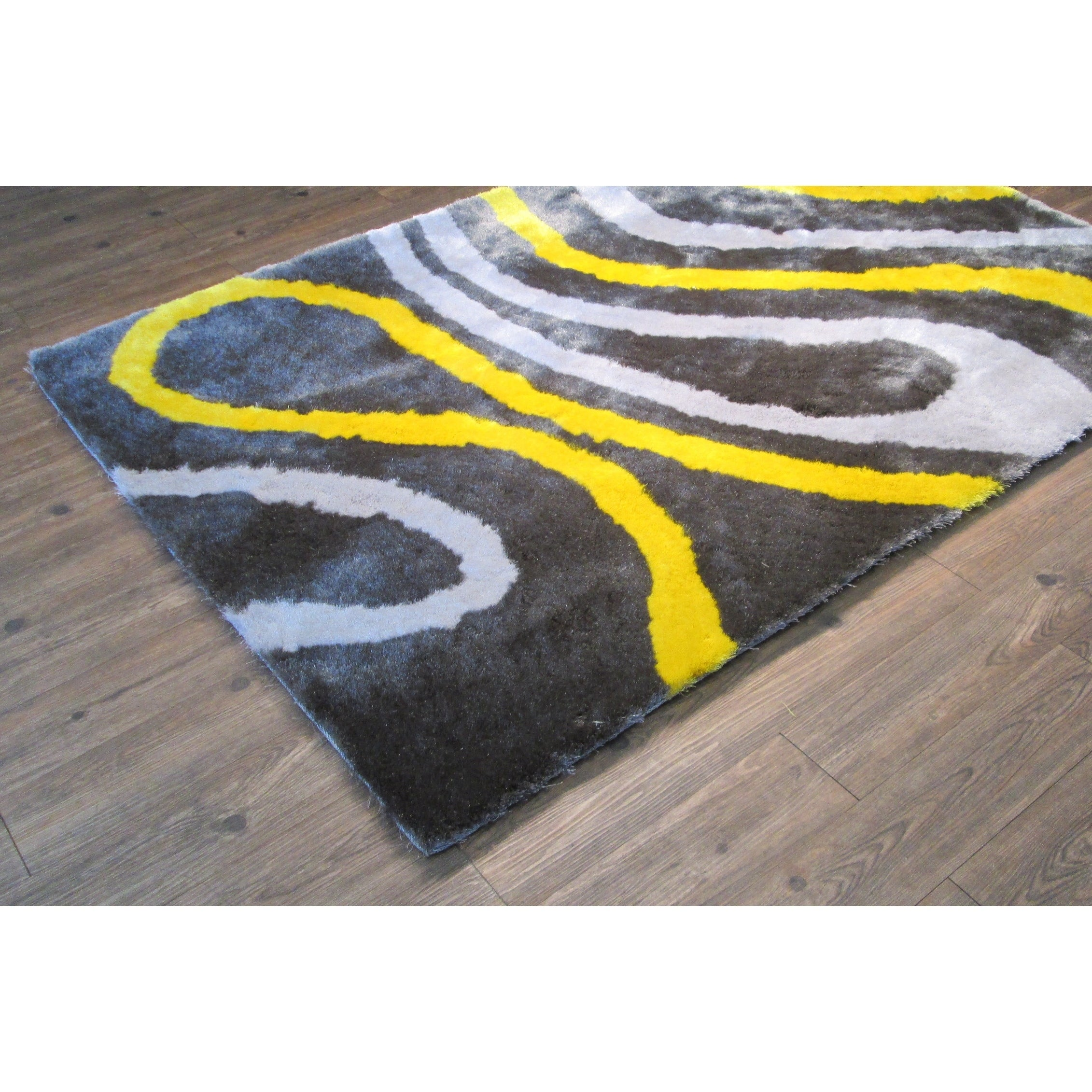 Shop Gray Yellow 5x7 Contemporary Area Rug 5 X 7 Free Shipping Today Overstock 26042034
