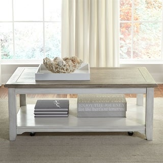 Summerville Soft Whitewash Rectangular Cocktail Table