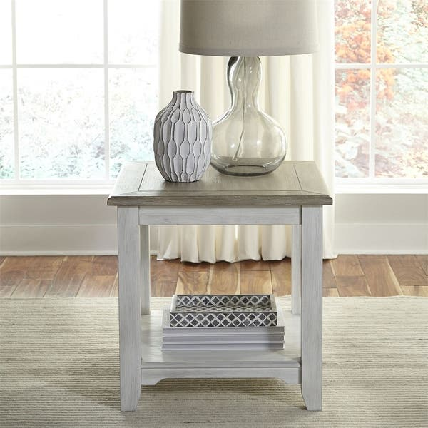 Summerville Soft Whitewash Wood 3 Piece Coffee And End