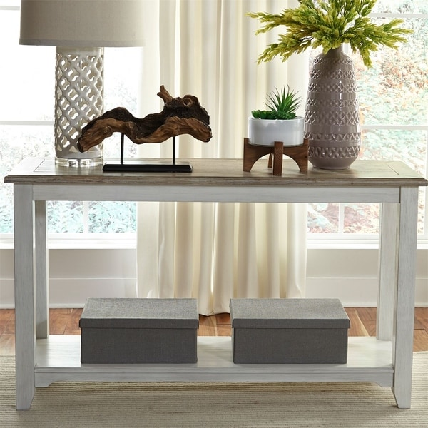 Sofa Tables On Sale: Shop Liberty Summerville Soft White Wash Sofa Table