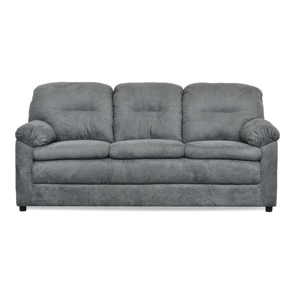 Wynonna Two Piece Grey Sofa and Loveseat Set - Grey