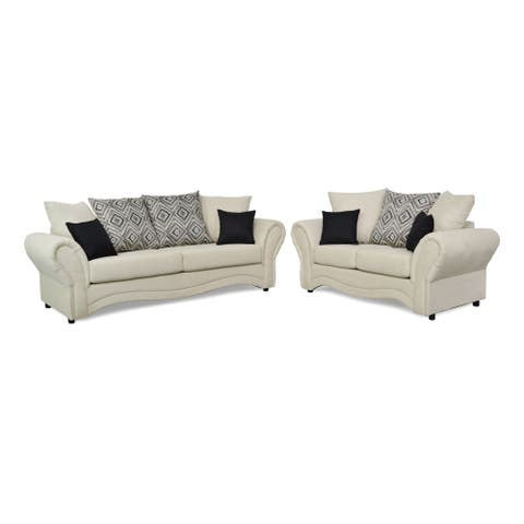 Marana Two Piece Sofa and Loveseat Set