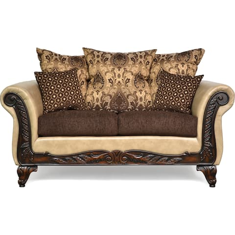 Bryce Two Piece Sofa and Loveseat Set - Brown