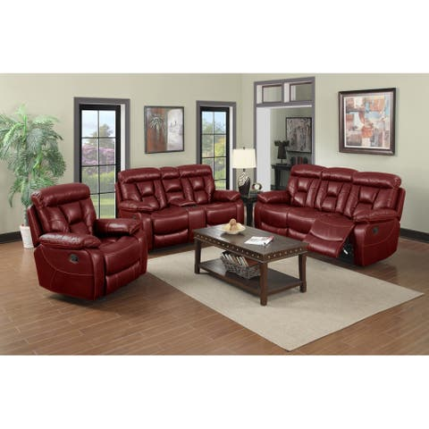 Paxton Two Piece Motion Reclining Sofa and Loveseat Set