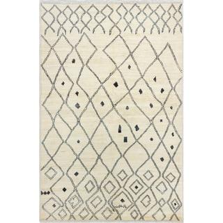 eCarpetGallery  Hand-knotted Shalimar Cream Wool Rug - 6'0 x 9'0