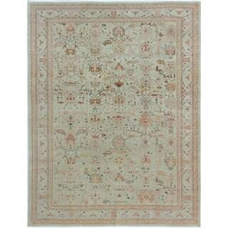 eCarpetGallery Hand-knotted Anatolian Light Khaki Wool Rug - 7'9 x 10'0