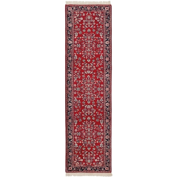 eCarpetGallery Hand-knotted Royal Kashan Red Wool Rug - 2'8 x 10'1