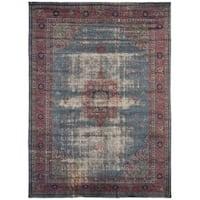 eCarpetGallery  Hand-knotted Color Transition Light Denim Blue Wool Rug - 8'3 x 11'7