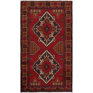 eCarpetGallery  Hand-knotted Teimani Red Wool Rug - 3'4 x 6'1