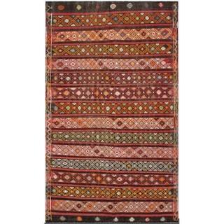 eCarpetGallery  Flat-weave Kashkoli FW Red Wool Kilim - 6'3 x 10'5