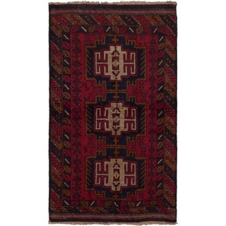 eCarpetGallery  Hand-knotted Teimani Red Wool Rug - 3'6 x 6'2