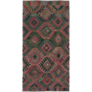 eCarpetGallery  Flat-weave Sivas Dark Copper Wool Kilim - 5'4 x 10'7