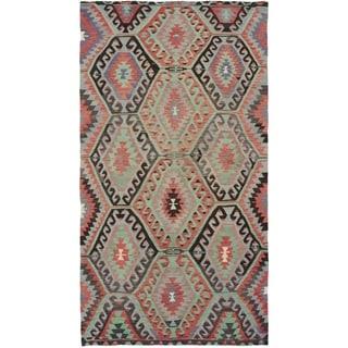 eCarpetGallery  Flat-weave Sivas Dark Copper Wool Kilim - 5'4 x 10'6