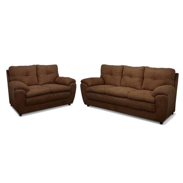 Jordan Two Piece Sofa and Loveseat Set
